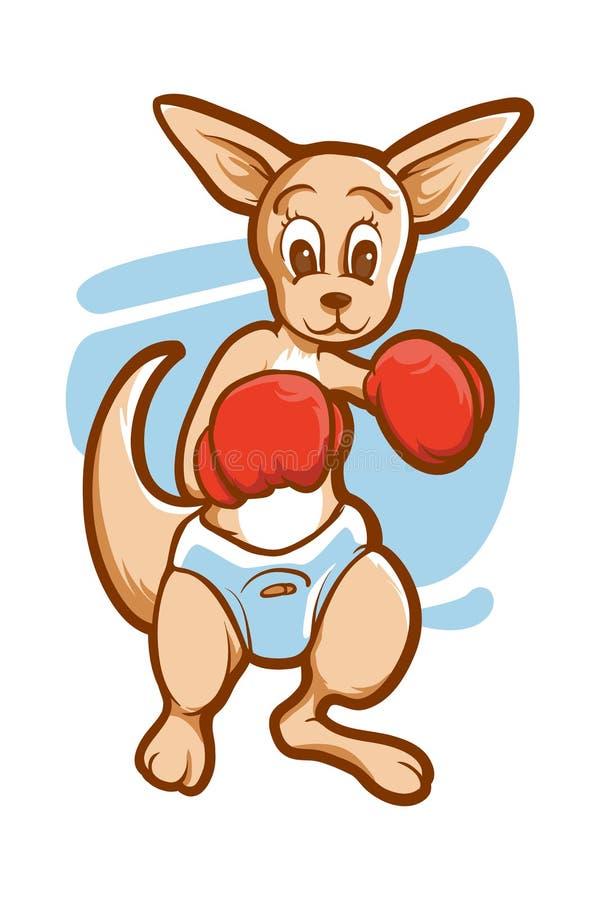 Känguruboxning stock illustrationer