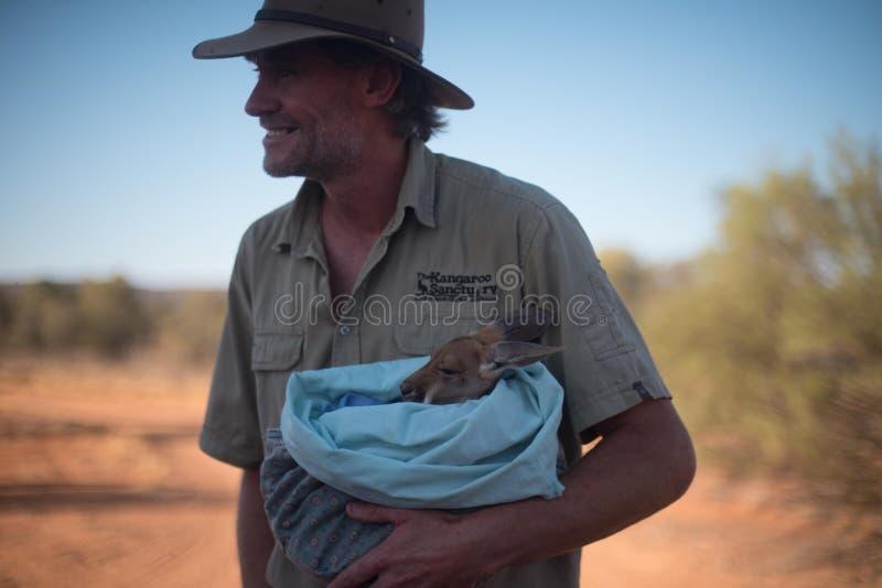 Kängurufristad i Alice Springs royaltyfria foton