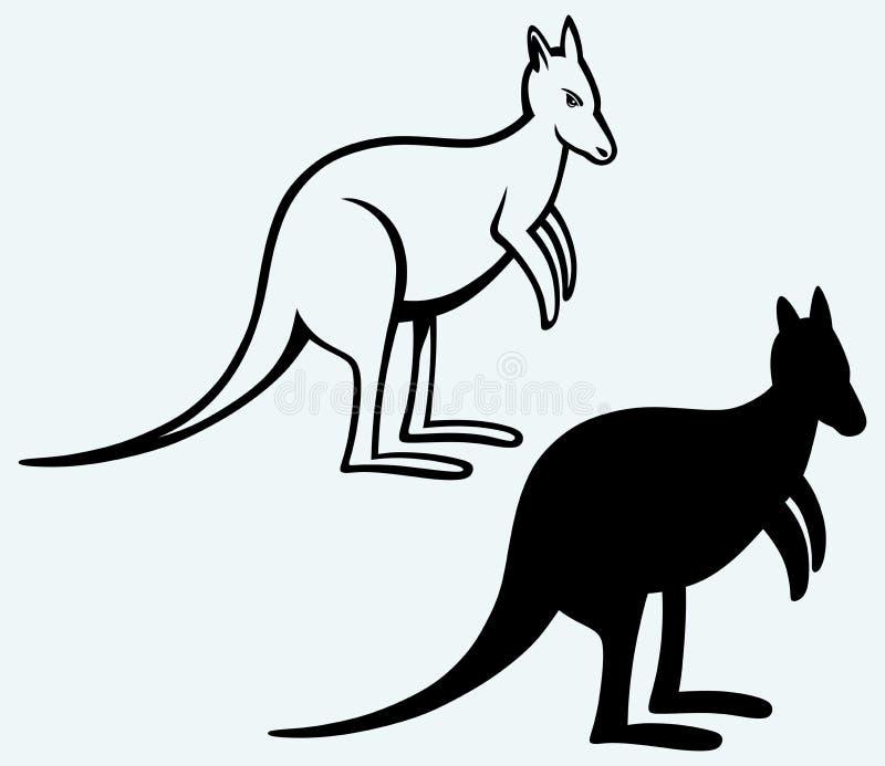 känguruh vektor abbildung