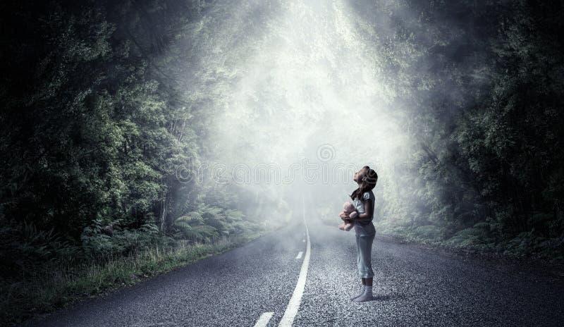 Känslig borttappat och ensamt fotografering för bildbyråer