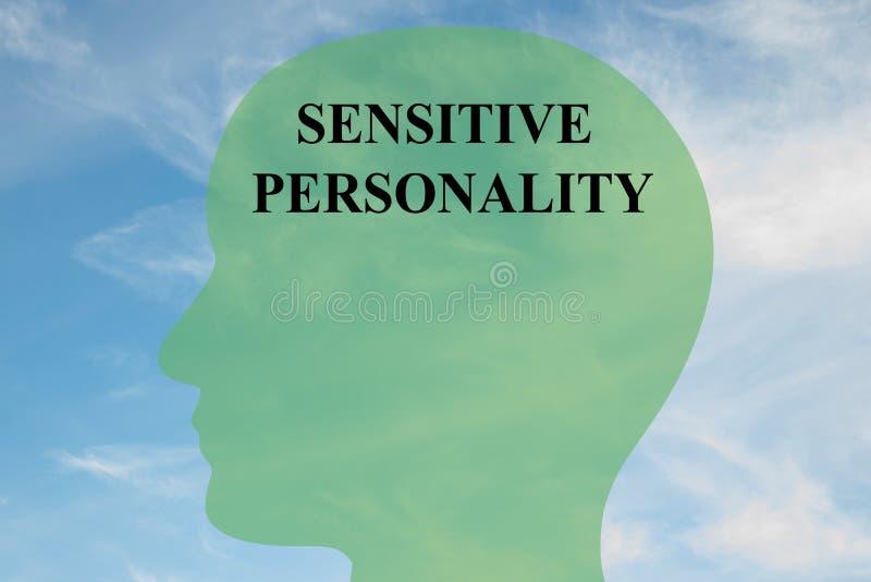 Känsligt personlighetshjärnbegrepp arkivfoton