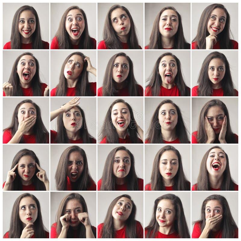 Känslor av en kvinna arkivfoton