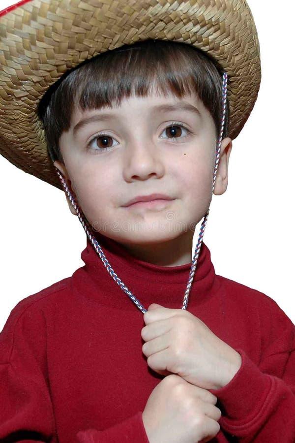 Känslosam Cowboy Fotografering för Bildbyråer