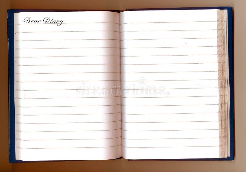 kär dagbok royaltyfria bilder
