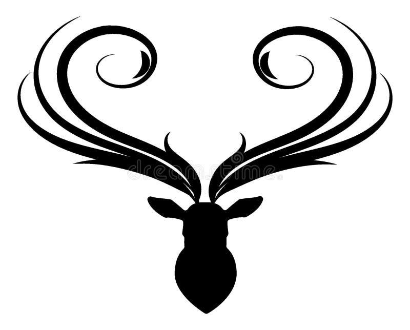 Kär head kontur royaltyfri illustrationer