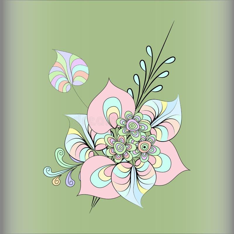 kärleksaffärpilsammansättning blommar hjärta vektor illustrationer