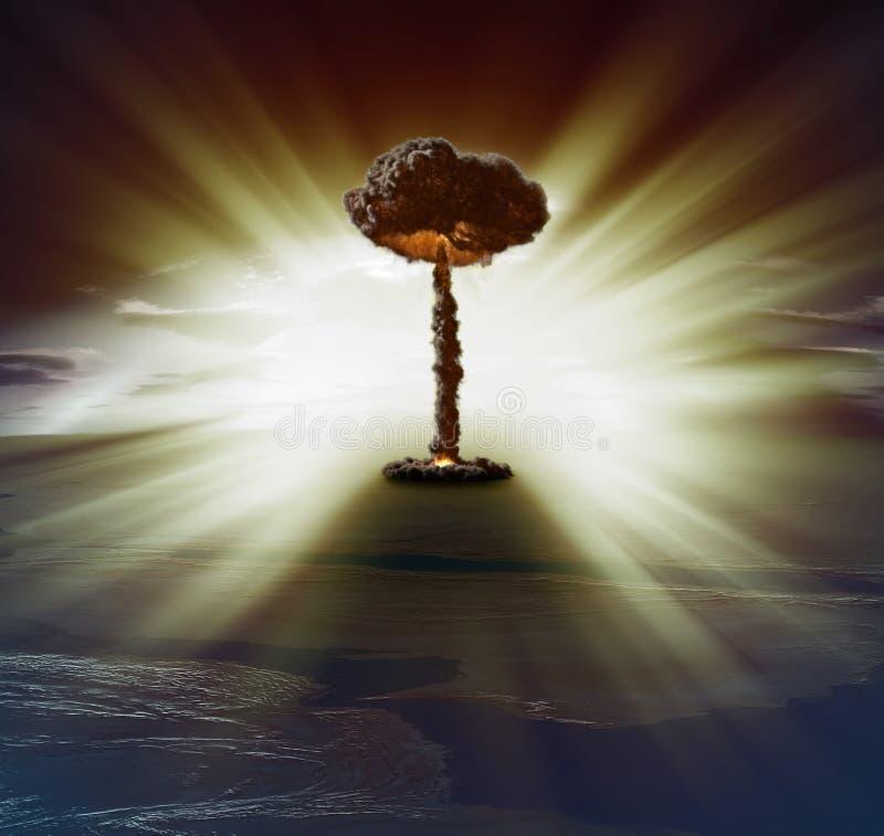 Kärn- bombardera stock illustrationer