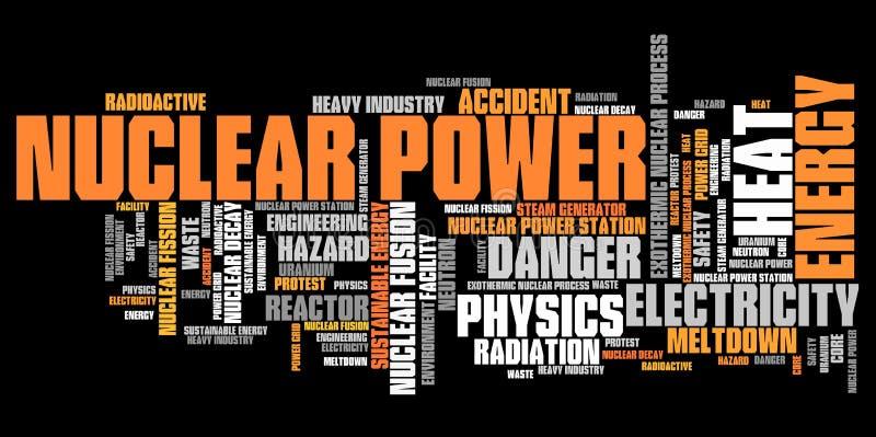 Kärn- energi royaltyfri illustrationer