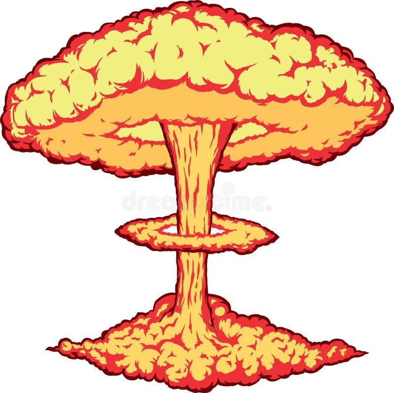 kärn- explosion vektor illustrationer