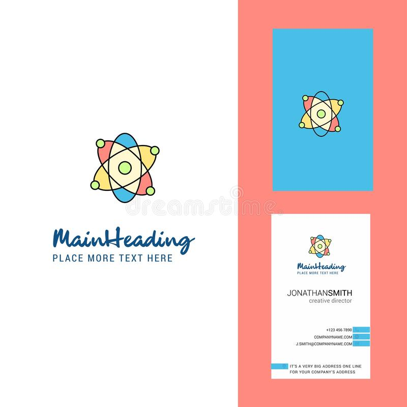 Kärn- idérikt logo- och affärskort vertikal designvektor royaltyfri illustrationer
