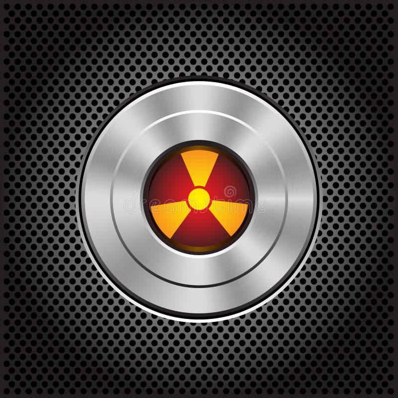 Kärn- knapp för teknologimetall på mörker - grå vektor för symbol för ingreppsmodelldesign vektor illustrationer