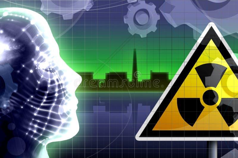 kärn- olycksbegrepp royaltyfri illustrationer