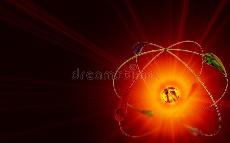 Kärn- reaktioner för kall fusion vektor illustrationer