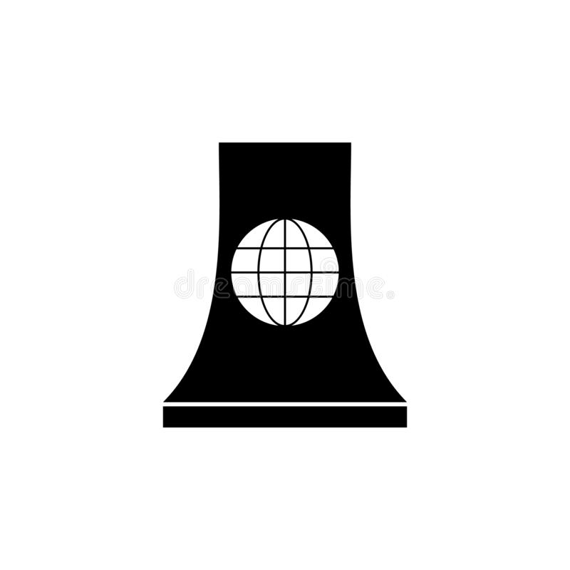 Kärn- station, världssymbol på vit bakgrund Kan användas för rengöringsduken, logoen, den mobila appen, UI UX vektor illustrationer