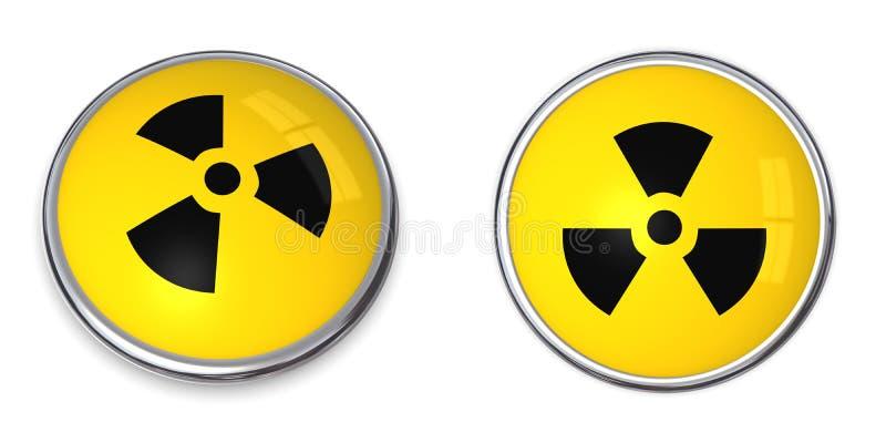 kärn- symbol för atom- knapp vektor illustrationer
