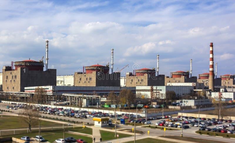 kärn- växtström Kärnenergi och miljön royaltyfri bild