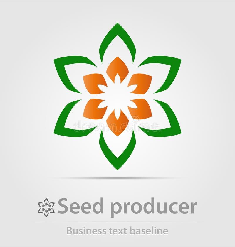 Kärna ur producent- och fördelaraffärssymbolen royaltyfri illustrationer