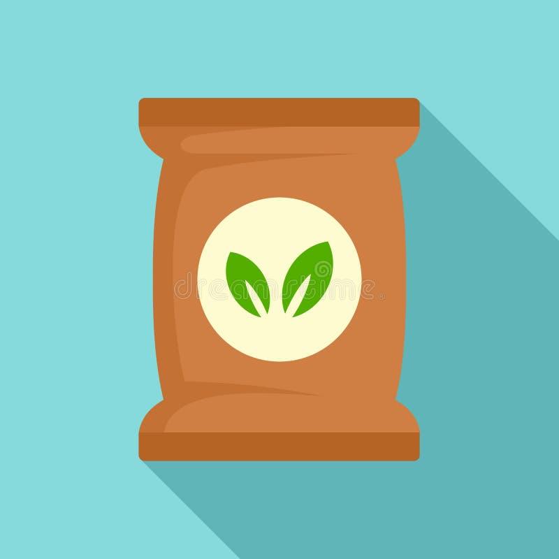 Kärna ur växtpackesymbolen, plan stil stock illustrationer