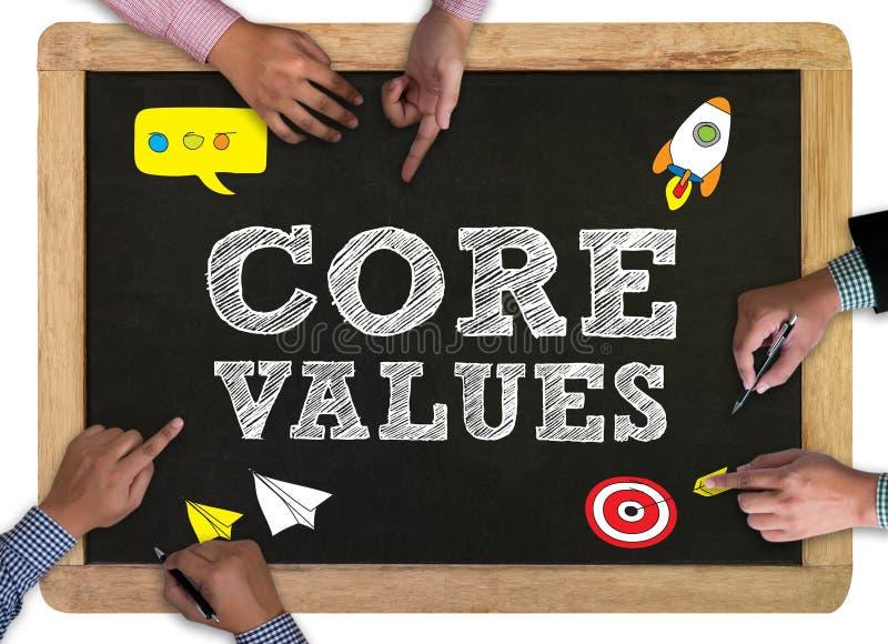 Kärnan värderar begreppet, affärsmanarbete royaltyfri bild