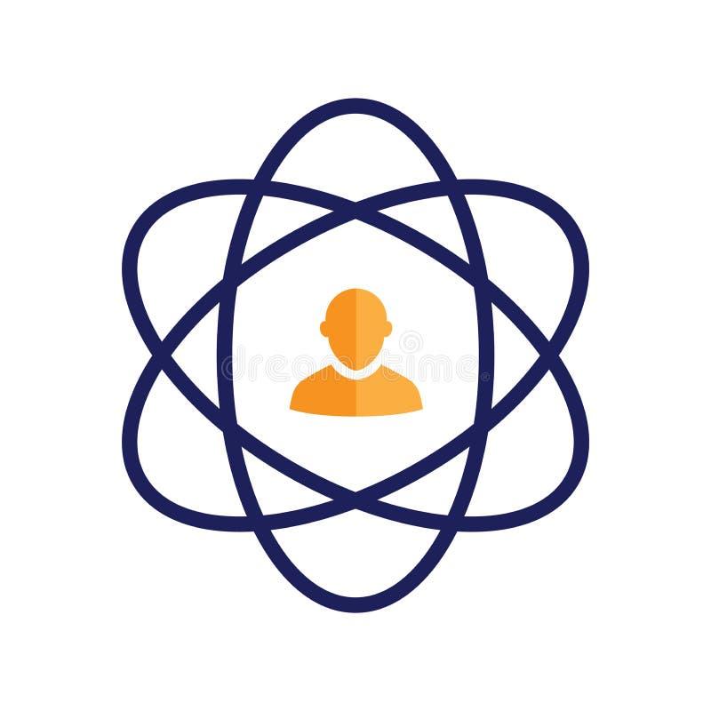 Kärnavärden skisserar/linjen symbolen som framför fullständighet och avsikt stock illustrationer