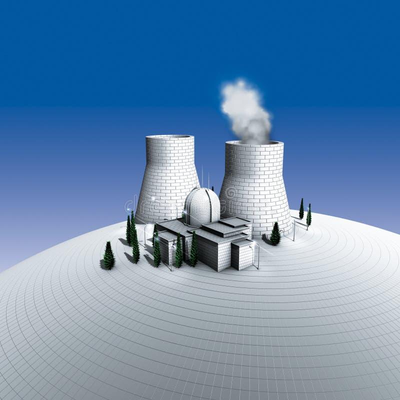 kärnkraftsanläggning stock illustrationer