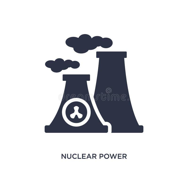 kärnkraftsymbol på vit bakgrund Enkel beståndsdelillustration från ekologibegrepp stock illustrationer