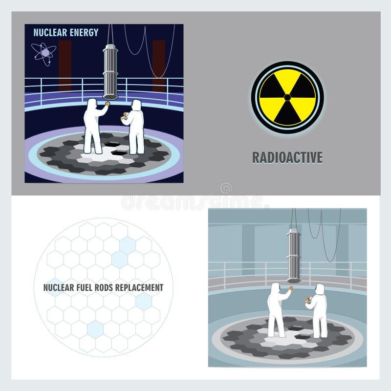 Kärnreaktor vektor illustrationer
