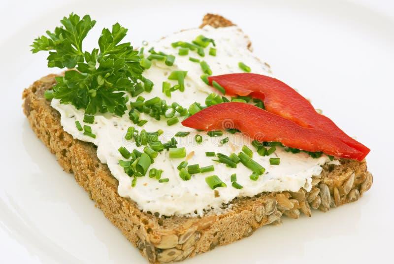 Käse-Brot stockbild
