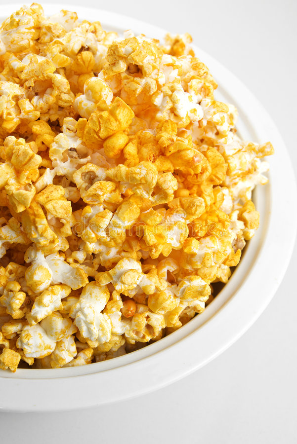 Käse gewürztes Popcorn lizenzfreie stockbilder