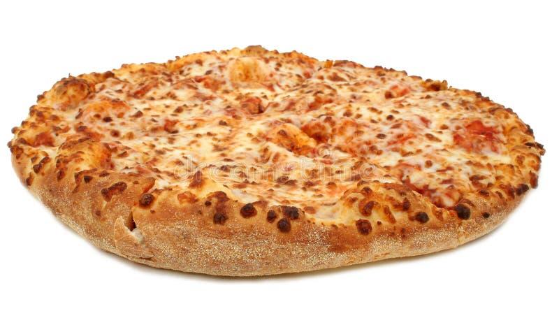 Käse-Pizza auf weißem Hintergrund stockfoto