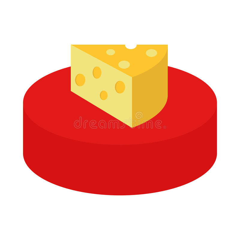 Käse und Stück Käse vektor abbildung