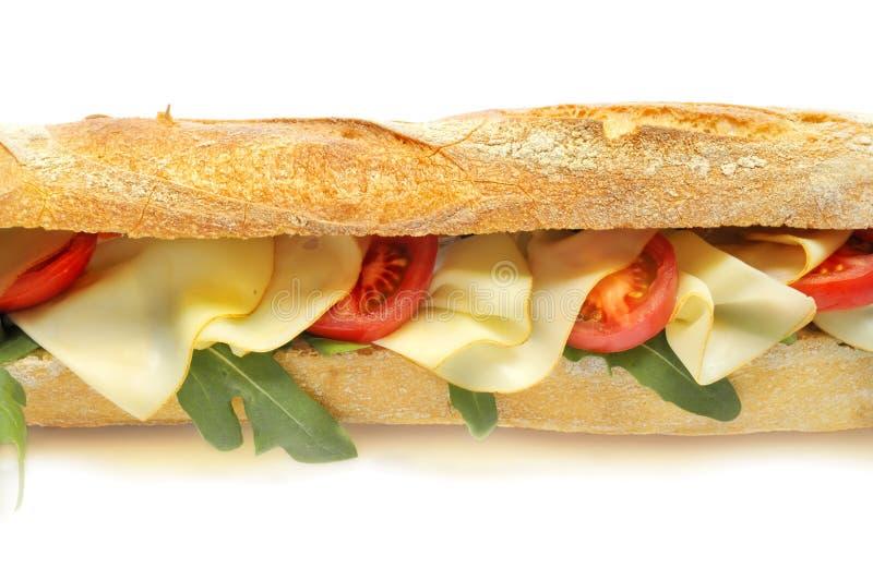 Käse- und Tomatestangenbrot lizenzfreies stockfoto