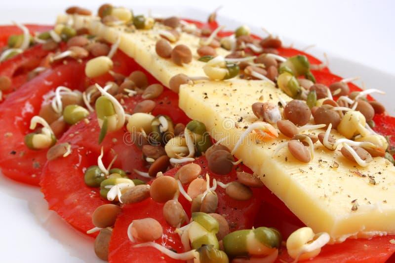 Käse und tomatoe stockfotos