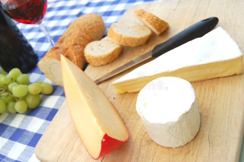 Käse und Wein stockfotos