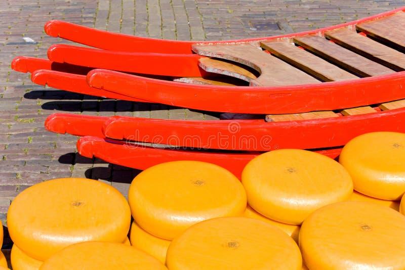 Käsemarkt, Alkmaar, die Niederlande lizenzfreie stockbilder