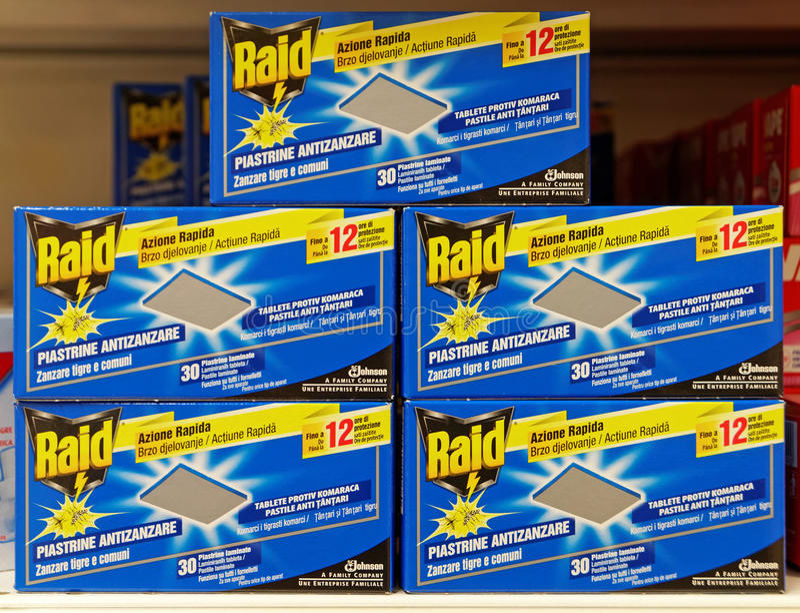 Kästen Überfall-Anti-Moskito-Tablets lizenzfreies stockbild