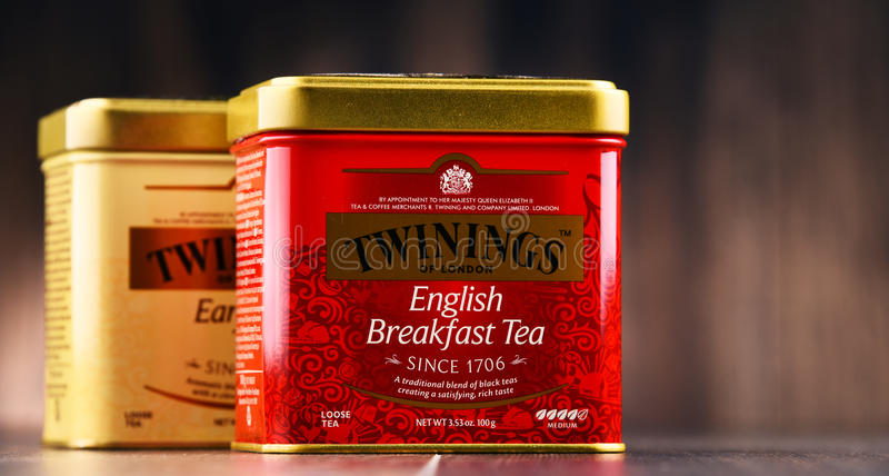 Kästen Twinings-Tee stockfotos