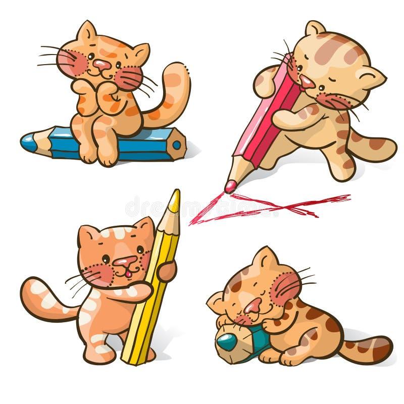 Kätzchen stock abbildung