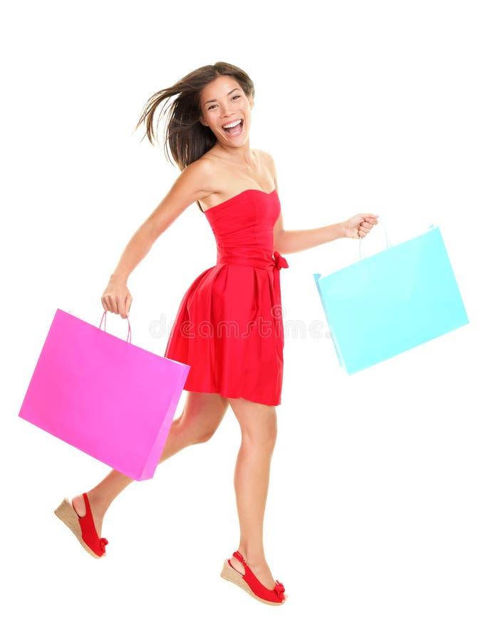 Käufer - Fraueneinkaufen lizenzfreie stockfotos