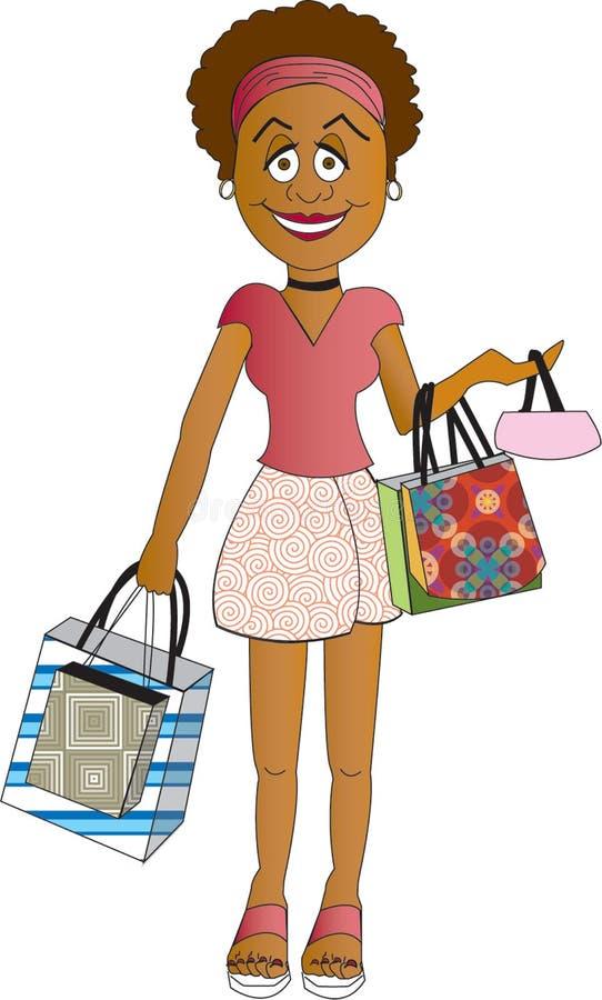 Käufer-Mädchen stock abbildung