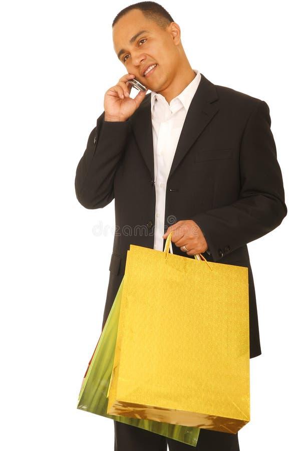 Käufer am Telefon lizenzfreies stockfoto