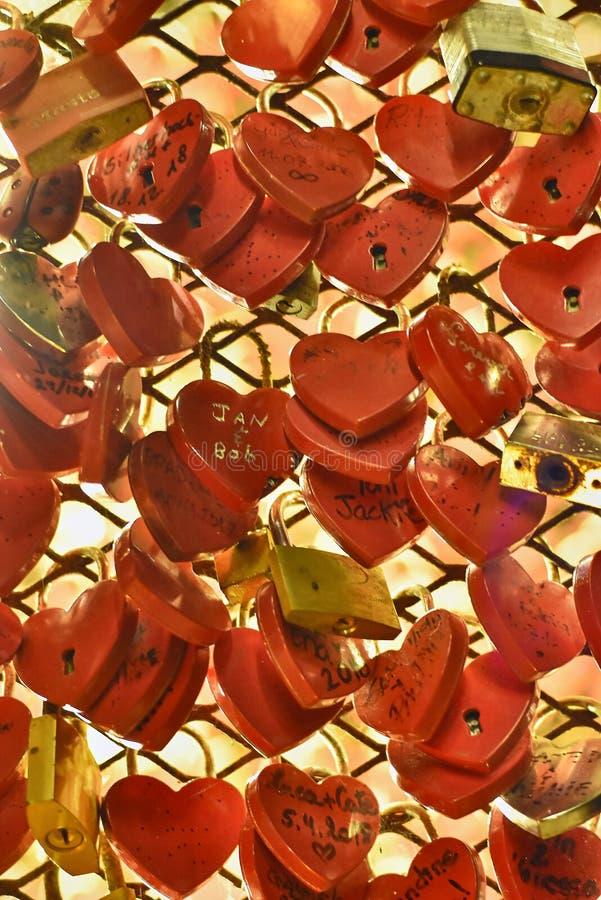 Kłódki miłość -4 obraz royalty free