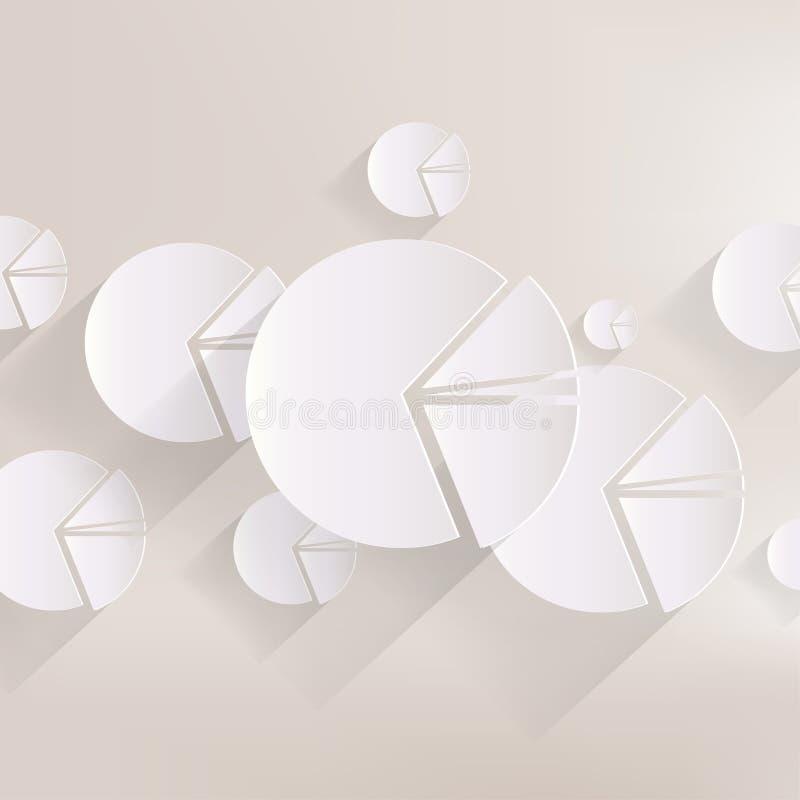 Kółkowa diagram sieci ikona ilustracji