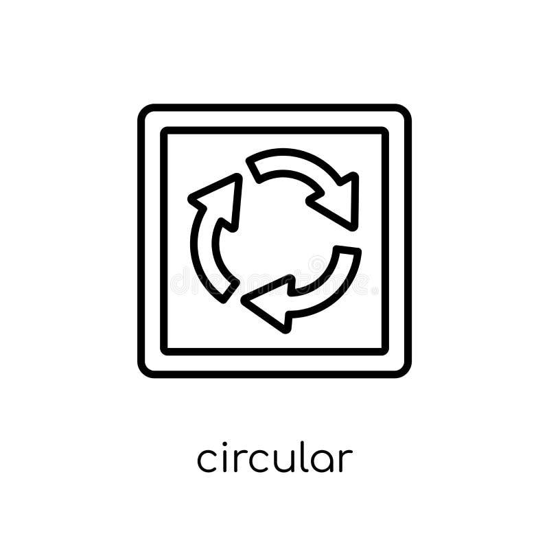 kółkowa skrzyżowanie znaka ikona Modny nowożytny płaski liniowy vecto ilustracja wektor