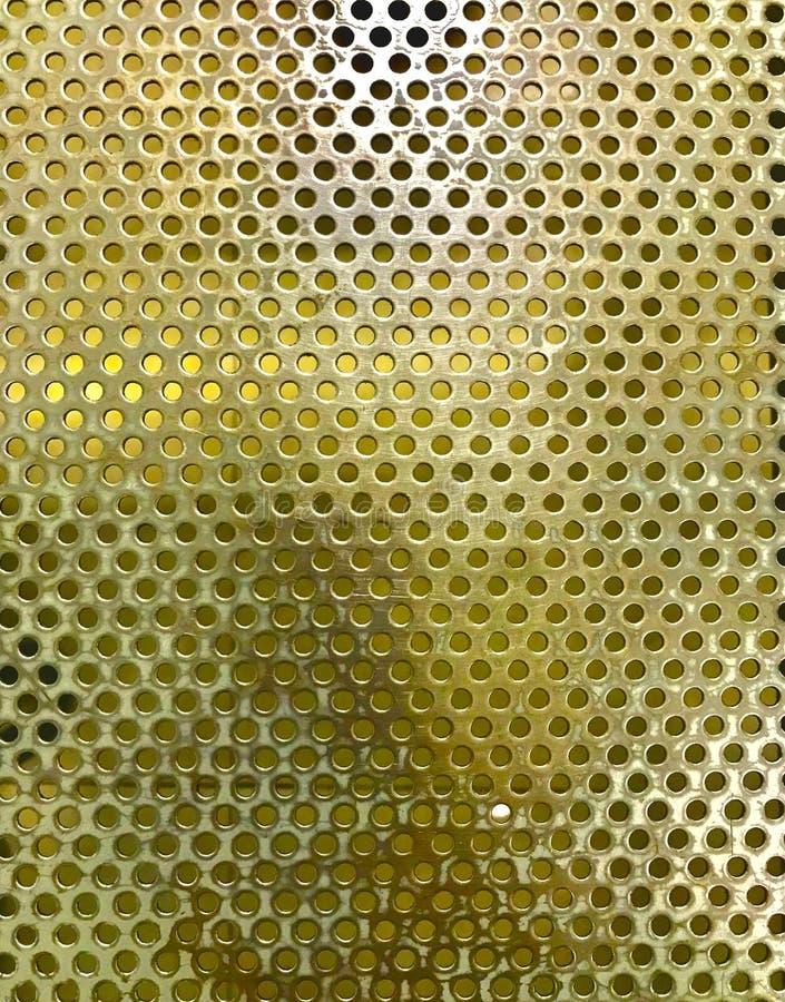 Kółkowa złota siatka zdjęcia royalty free