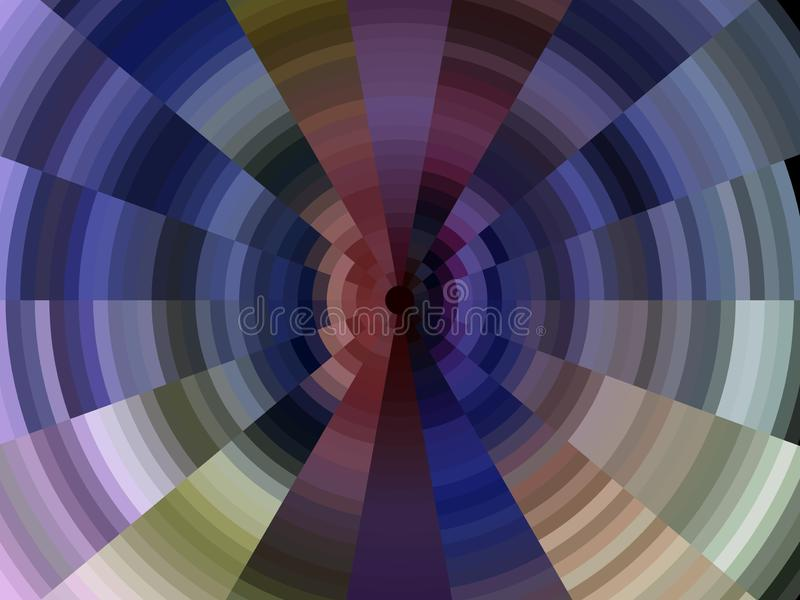 Kółkowy błękitny purpurowych linii tło, grafika, abstrakcjonistyczny tło i tekstura, ilustracji