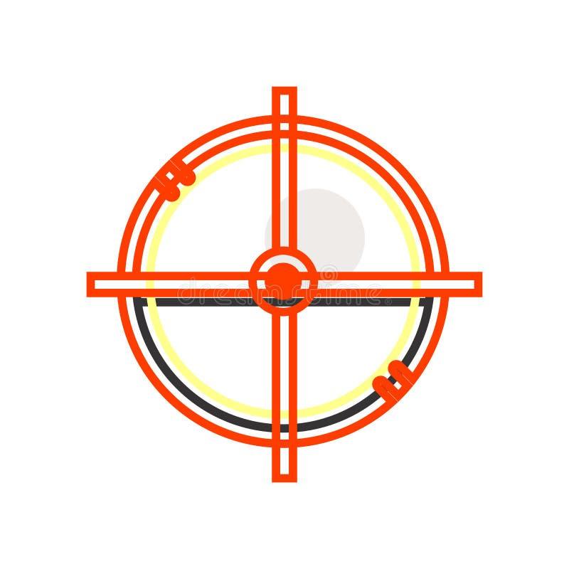 Kółkowy cel ikony wektoru znak i symbol odizolowywający na białym tle, Kółkowy celu logo pojęcie ilustracji