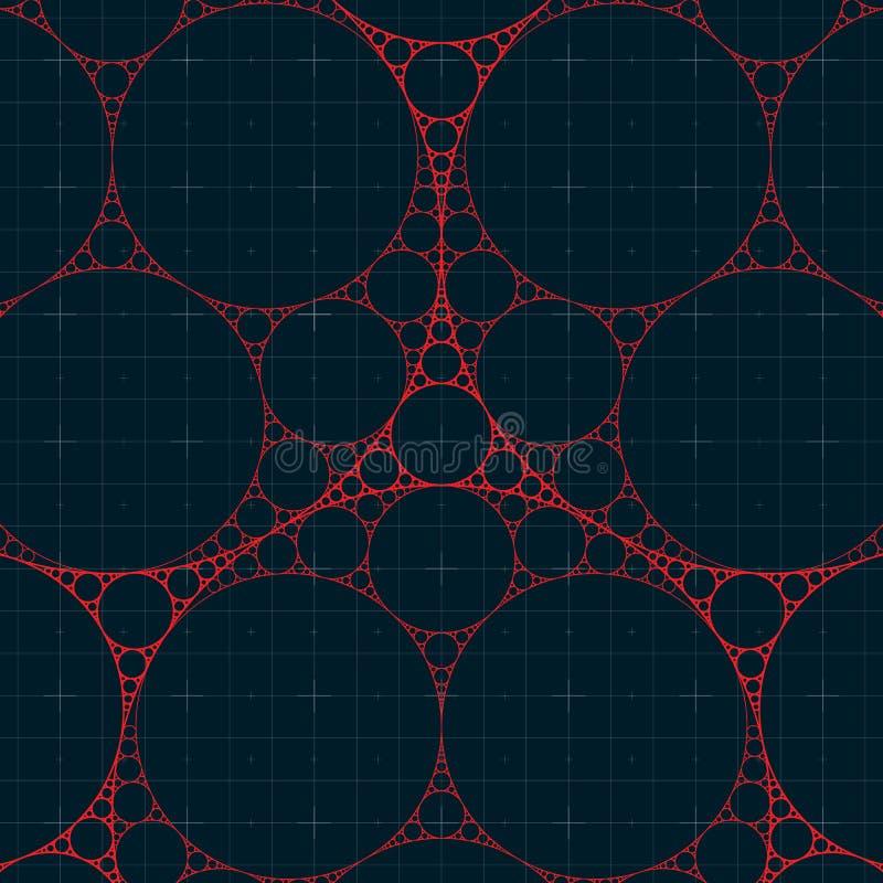 Kółkowy fractal ilustracja wektor
