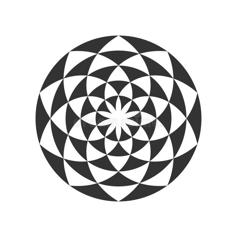 Kółkowy Fractal projekta element ilustracji