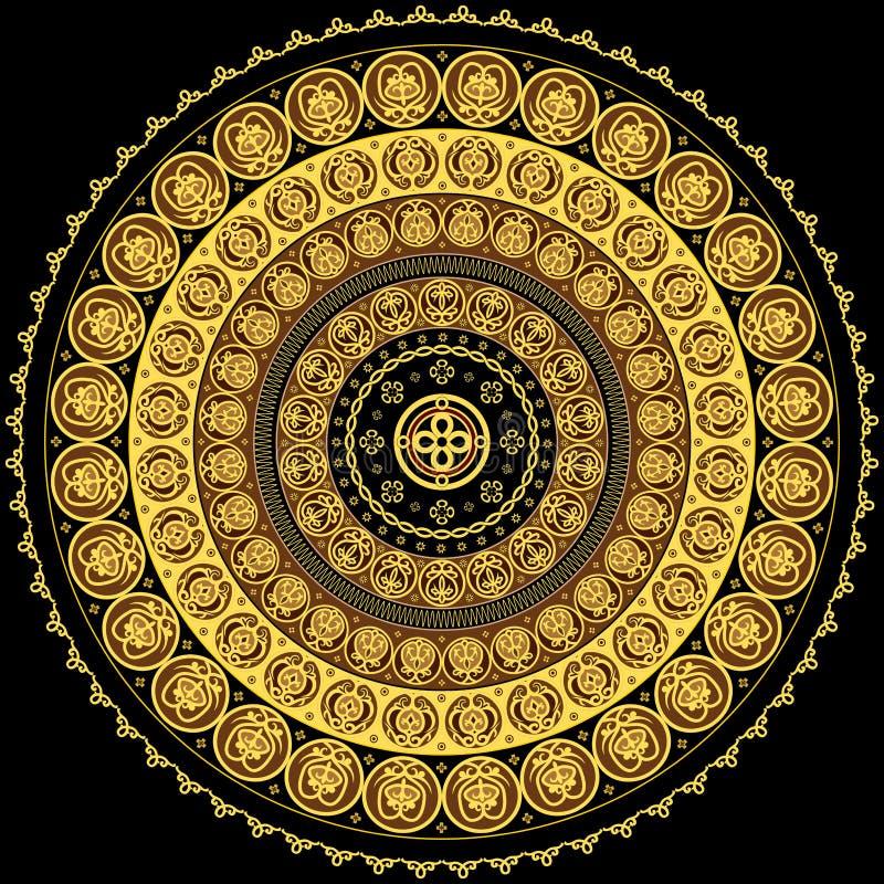 kółkowy koncentryczny ornament ilustracji